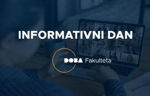 Online informativni dan DOBA Fakultete