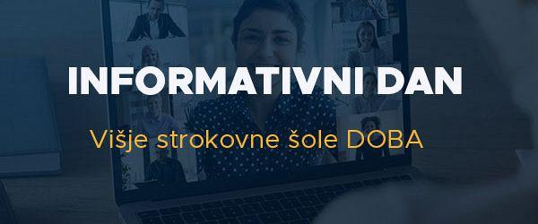 Online informativni dan Višje strokovne šole DOBA